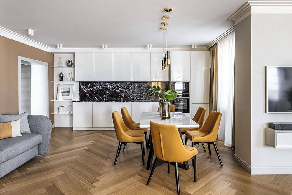 Интерьер кухонного гарнитура