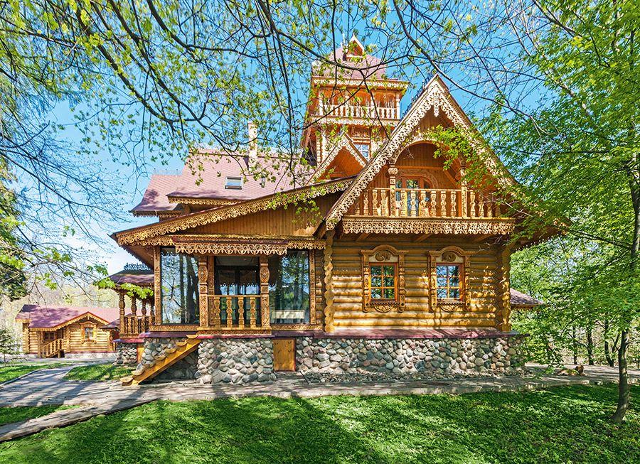 фото русских домов из дерева всего цветка любого
