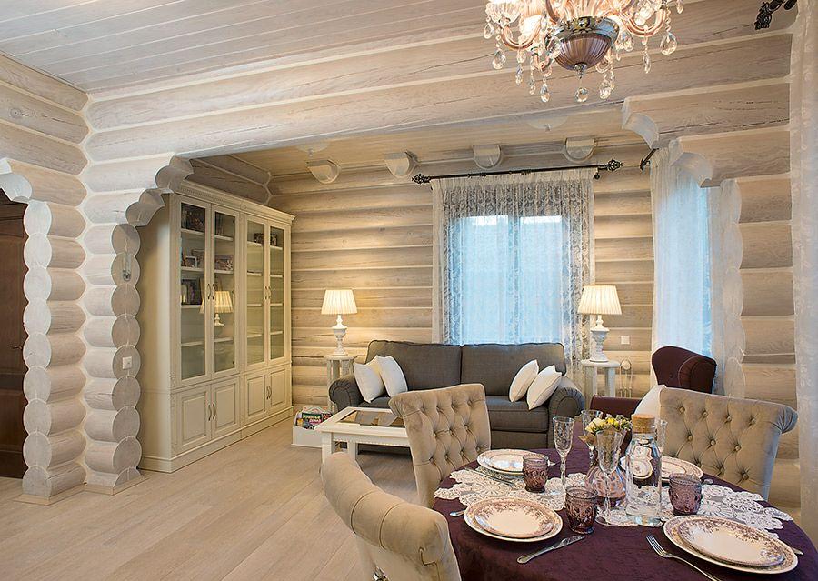 фото деревянных домов из бревна внутри камины считаются только