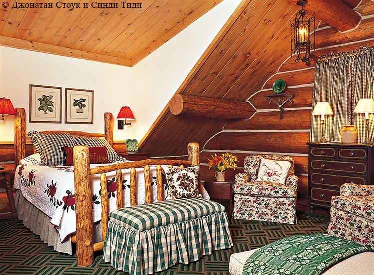 деревенский стиль в интерьерах деревянного дома