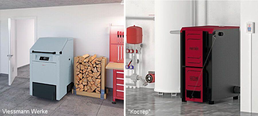 Vitoligno 300 S — газогенераторный дровяной котел