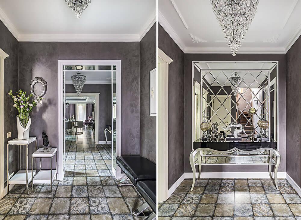 Интерьер коридора с зеркалами