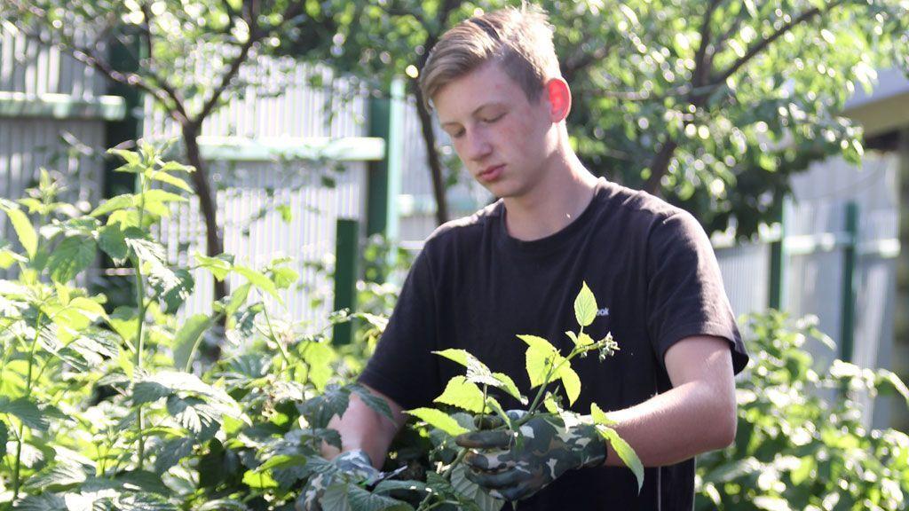 Тимофей в саду
